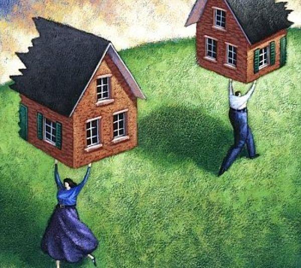 как разделить участок после развода